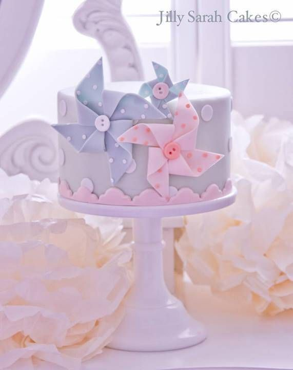 Cute Pinwheels and Buttons Little Cake