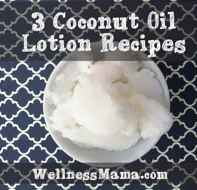 3 Coconut Oil Lotion recipes