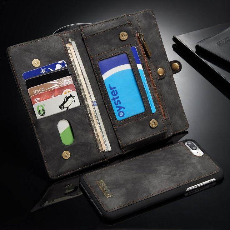 Caseme Zipper Wallet Magnetic Detachable Case For iPhone 7 Plus/8 Plus Sale - Banggood.com