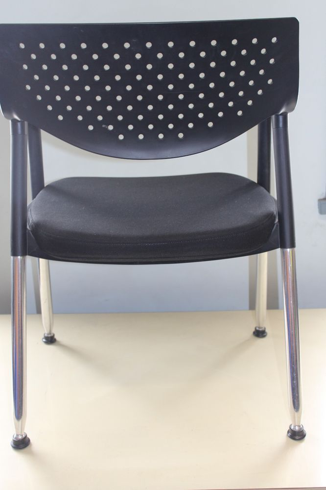 Offce Furniture Chairs Black Clients Visitor Office