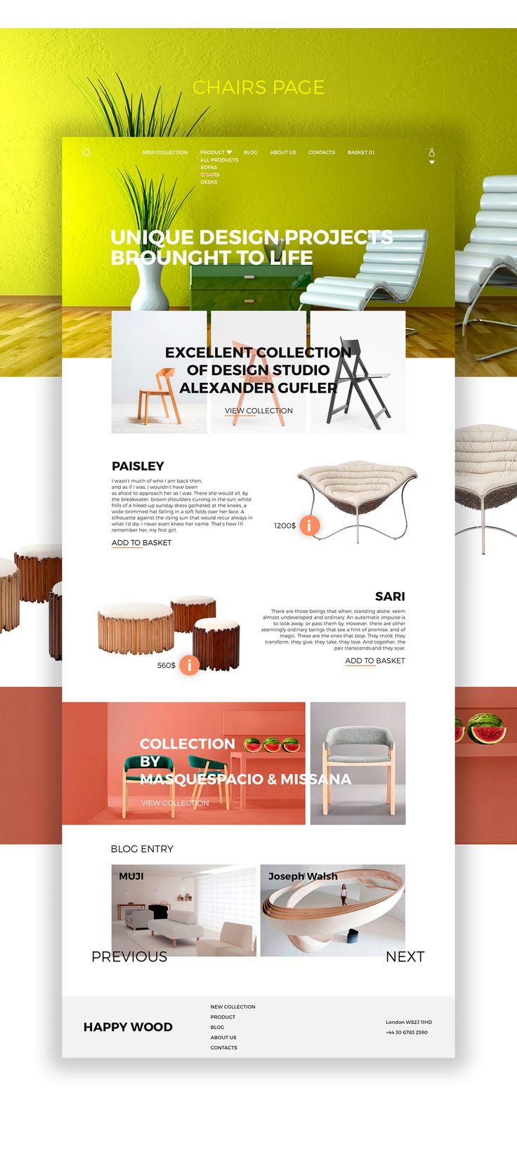 Demeyer Furniture Website. Online Store Interior Goods «HAPPY WOOD» On Web  Design Served