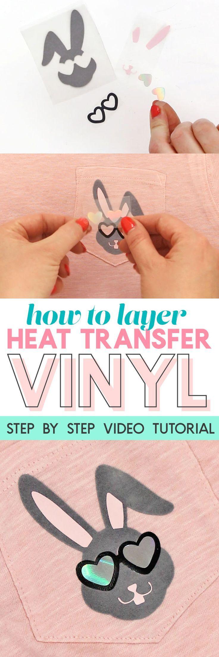 How to Layer Heat Transfer Vinyl