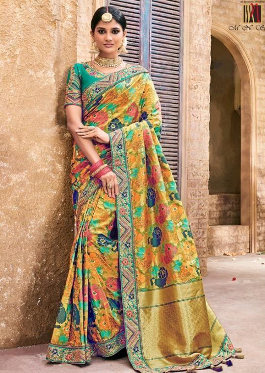 3b68bd35b836c1 Mn Sarees Designer Gorgeous Benarasi Pure Silk Saree in 2019 | new ...