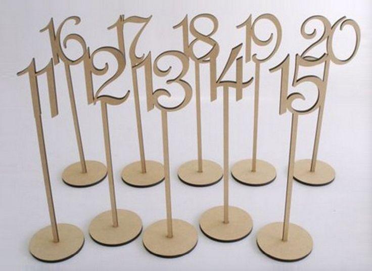 Rústico Decoração da Tabela Do Casamento número da tabela do casamento número da tabela do partido titular tag De Madeira stand
