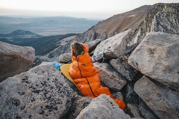 Patagonia's brand-new sleeping bag recently hit the market. // Photo: Jeff Johnson/Patagonia