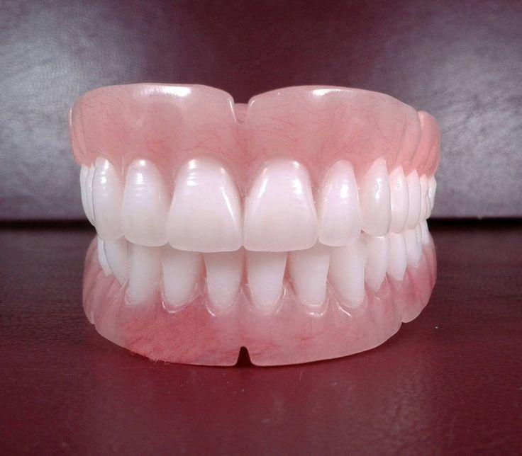 Dentures set of false teeth bleach shade medium etsy in