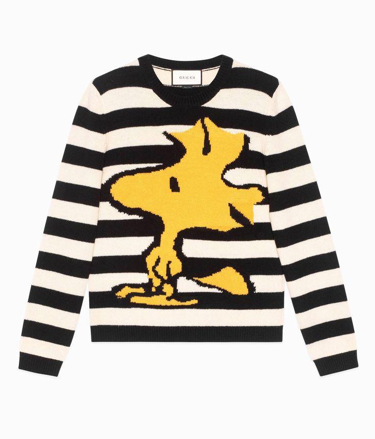 Gucci Woodstock Striped Men's Wool Sweater