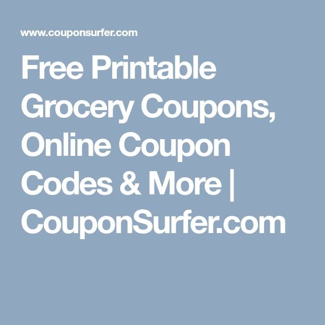 The 25 best online grocery coupons ideas on pinterest grocery free printable grocery coupons online coupon codes more couponsurfer fandeluxe Gallery