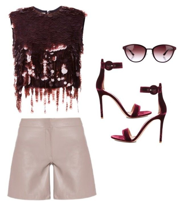 """""""Untitled #46"""" by prettt on Polyvore featuring Maria Grachvogel, Marni, Gianvito Rossi and Oliver Peoples"""