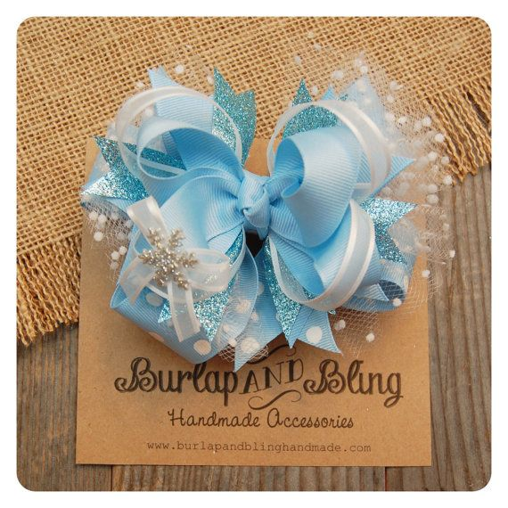 Frozen Inspired Hairbow!