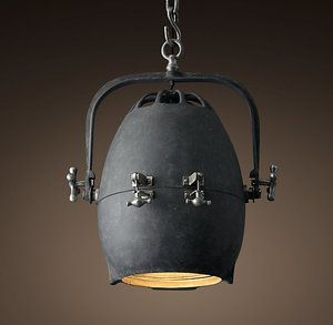 Lighting Solutions_Steampunk And Industrial Décor_Pod Pendant_Large_zinc