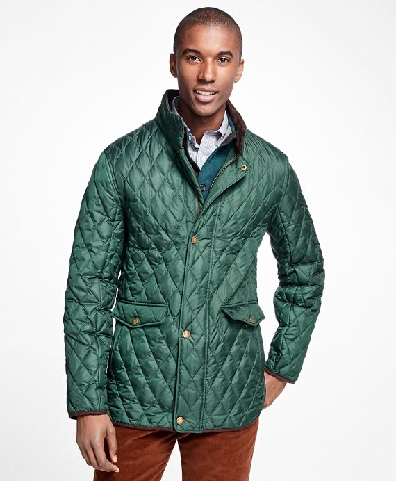Quilted Walking CoatDark Green