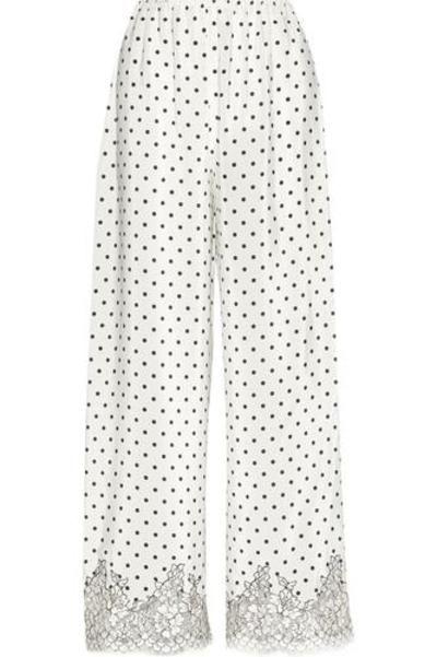 #covetmeChaplin's Love Story lace-trimmed printed silk-crepe pajama pants #nightwear #covetme #rosamosario