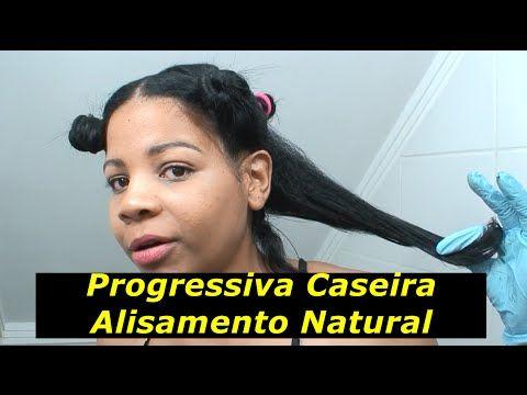 PROGRESSIVA CASEIRA SEM GASTAR NADA! O Melhor Alisamento Natural Que Realmente Funciona! - YouTube