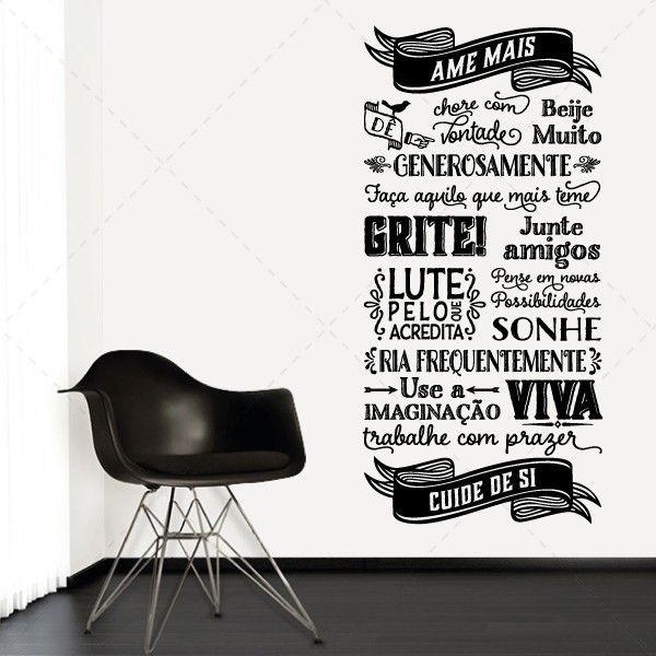 ABC da vida - Textos e Citações - Decoração em vinil Autocolante decorativo e Papel de parede