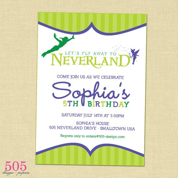 25 best ideas about neverland invitation on pinterest for Peter pan invitation template