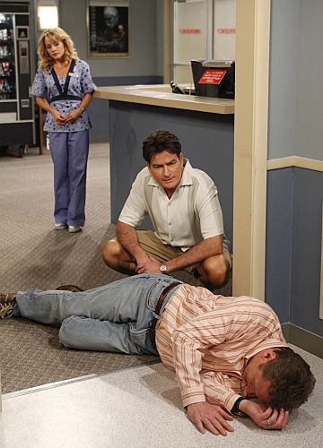 Charlie Sheen, Ryan Stiles, and Kelly Stables in Two and a Half Men (2003)