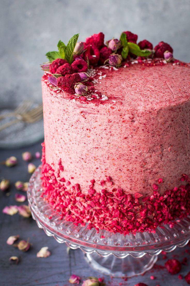 Raspberry Coconut And Lemon Layer Cake