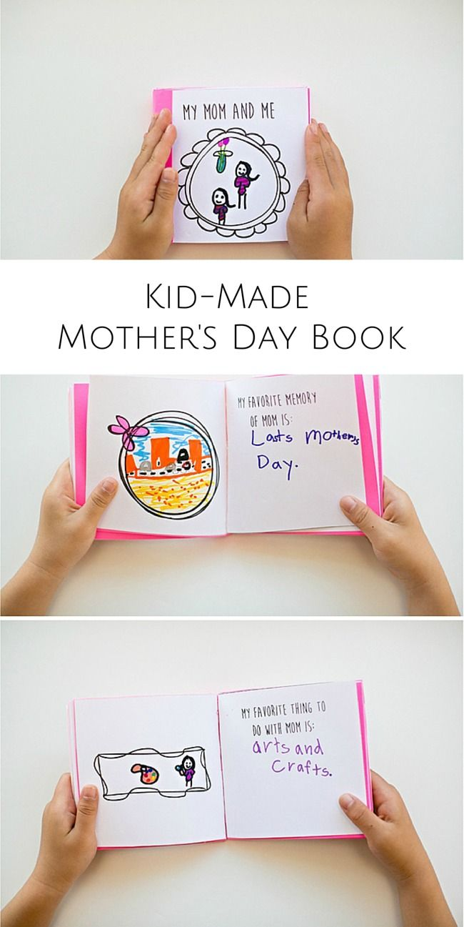 Make a sweet and thoughtful kid made mother 39 s day book for Things to make for your mom for mother s day