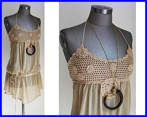 17 best images about blusas y blusones on pinterest - Aplicaciones en crochet ...
