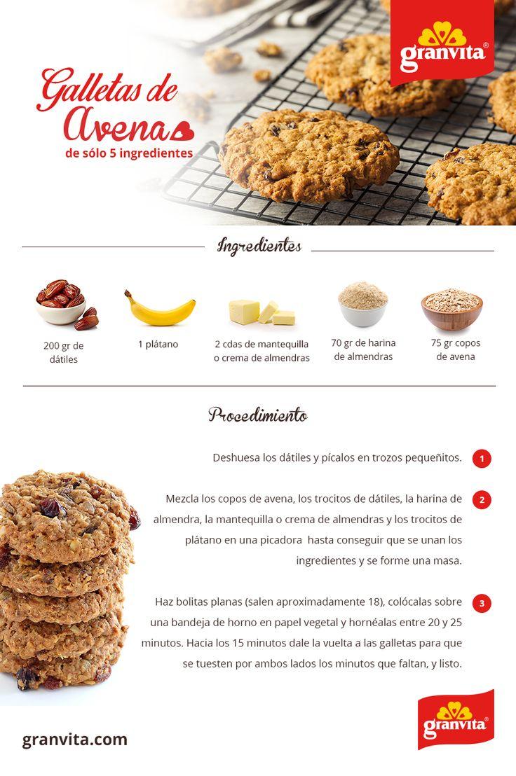 Para este frío, unas galletitas de avena con sólo 5 ingredientes son ideales para disfrutar con un chocolate burbujeante.