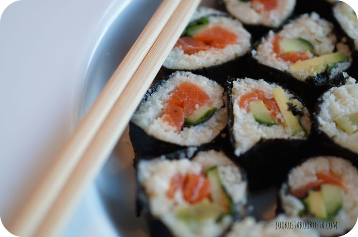 Sushi time! Don't worry, there's no rice.