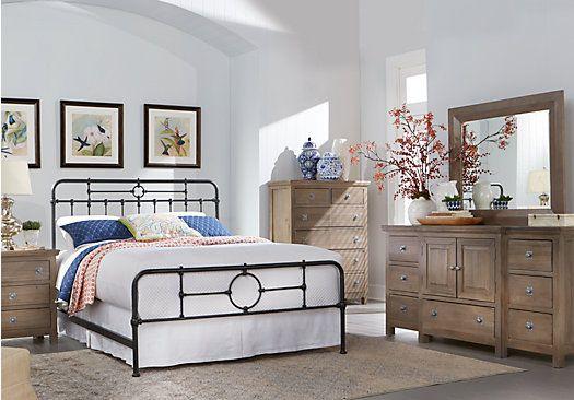 picture of Summer Grove Gray 5 Pc Queen Bedroom from Queen Bedroom Sets Furniture