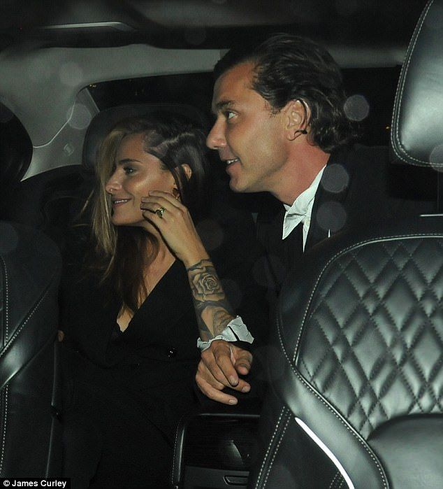Cute couple: Gavin Rossdale and his Playboy model girlfriend Sophia Thomalla proved they were inseparable as they stepped out for a cosy dinner date at Scott's on Thursday