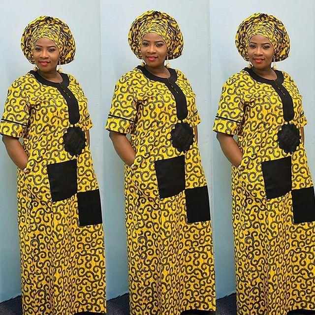 Creative Ankara Long Gown Style http://www.dezangozone.com/2016/05/creative-ankara-long-gown-style_25.html