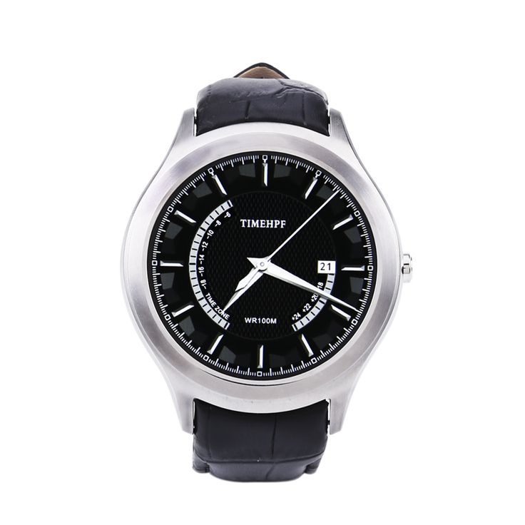 NO.1 D5+ Android Smart Watch - Quad Core CPU, 1GB RAM, 8GB Memory, Heart Sensor, Pedometer, 1.3 Inch Display (Silver)
