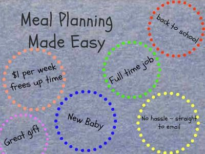 Back to School Menu Planning