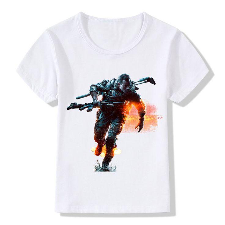 2017 3D Children Battlefield Game Print T-Shirts Kids Summer Tops Girls Boys Short Sleeve T shirt Camisetas Baby Clothes,HKP571 #Affiliate