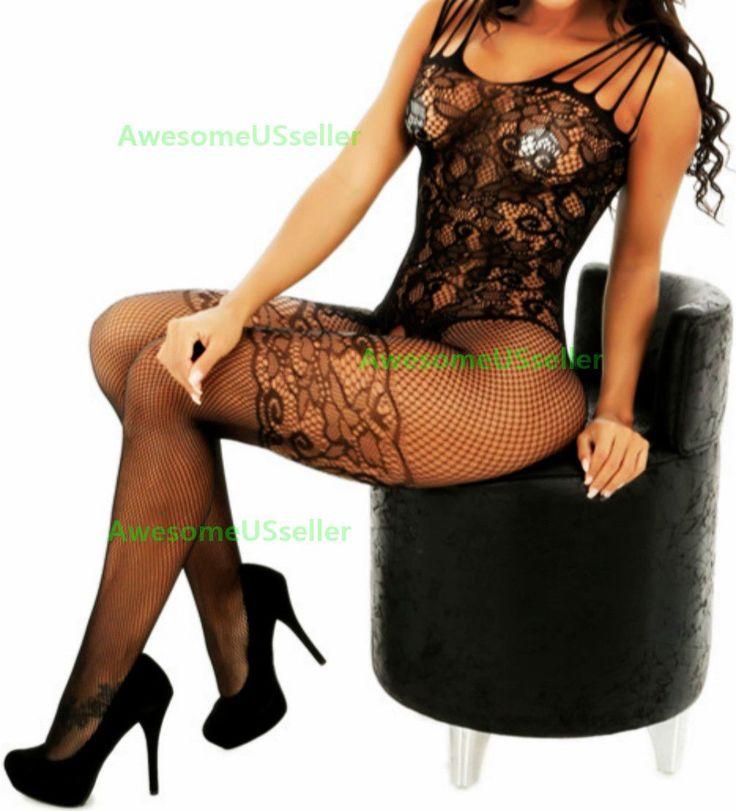 Sexy Women Lingerie Fishnet Body Stocking Sleepwear Dress Underwear Sex Bodysuit