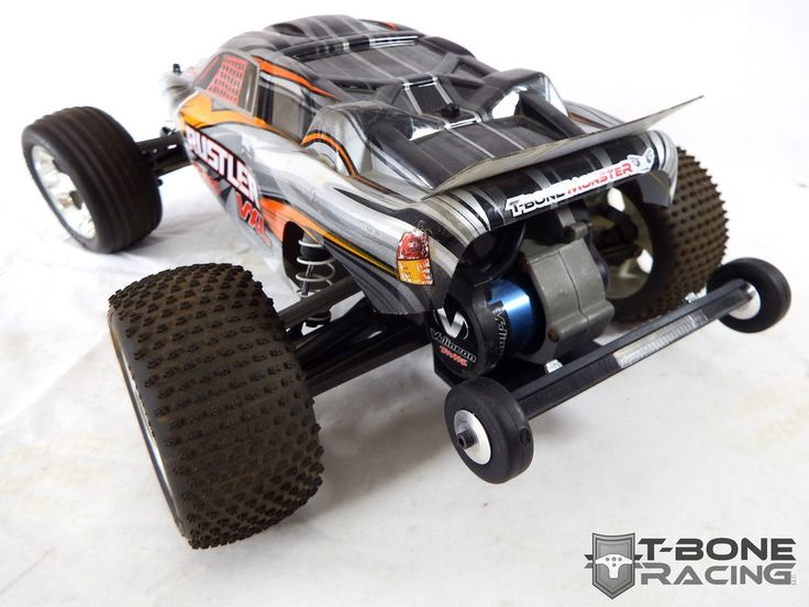 T-BONE RACING BMG2 REAR BUMPER / MOTOR GUARD W / WHEELIE BAR -- TRAXXAS RUSTLER VXL