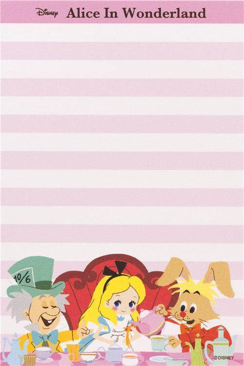 Alice in Wonderland Memo Pad with cards from Japan 5