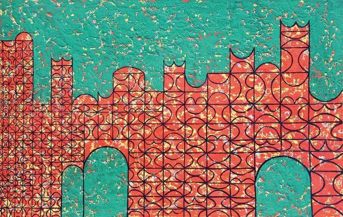 Anwar Jalal Shemza, City Walls 1961