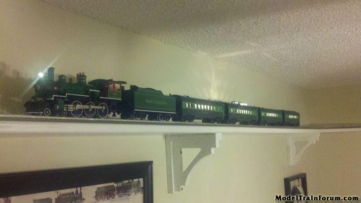 Man Cave Train Room : Ho scale train wall shelf layout google search man