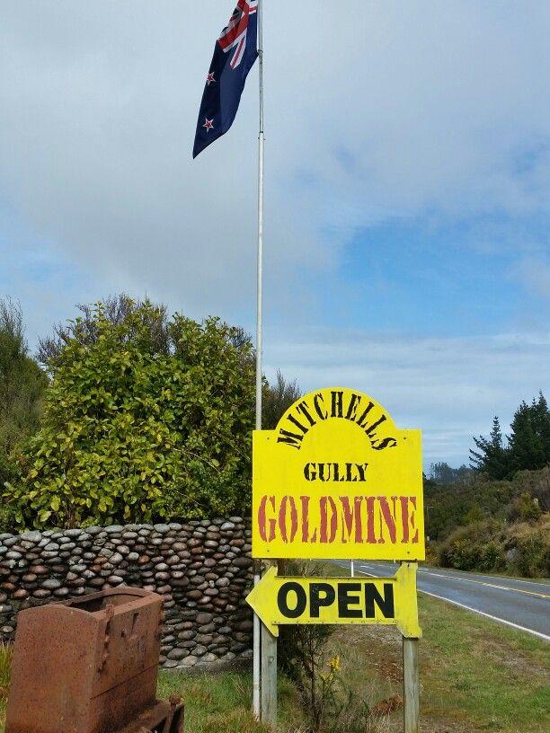 Mitchell gully goldmine  westport NZ