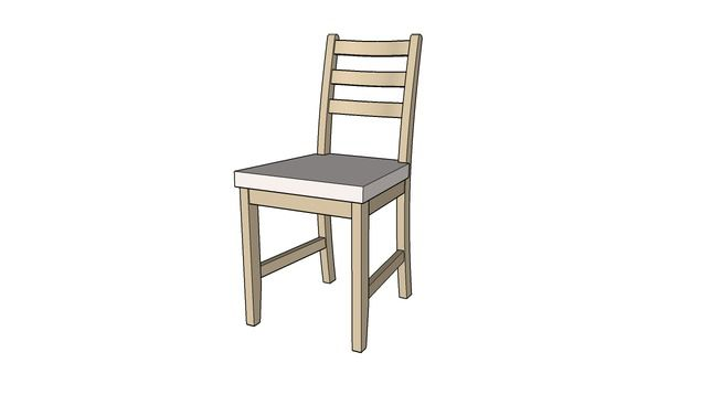 Ikea LERHAMN chair - 3D Warehouse