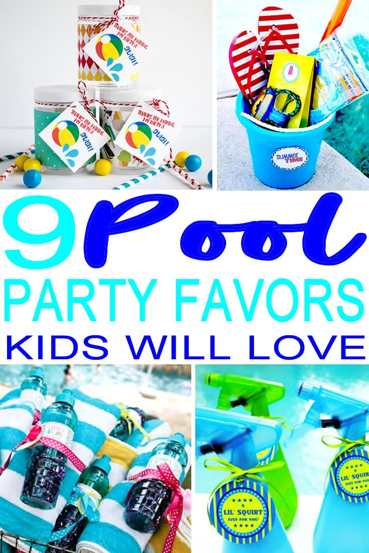 Pool Party Favor Ideas Looking To Create The Best Party Favors For A Pool Theme Party Check Out The Coole Pool Party Kids Pool Party Themes Pool Party Favors