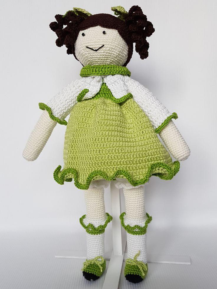 Crochet doll Anastazja. Lalka zrobiona na szydełku Anastazja. hand made dolls cotton crochet toy gift girl lalki szydełko zabawka ręczna praca ręczne robótki bawełna