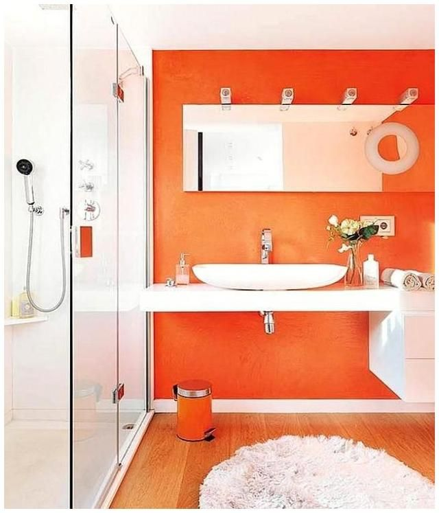 1000 Ideas About Orange Bathrooms On Pinterest Burnt Orange Bathrooms Ora