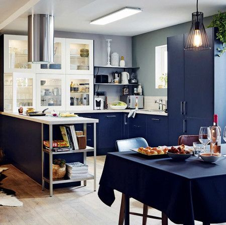 17 mejores ideas sobre cocina color azul marino en pinterest ...