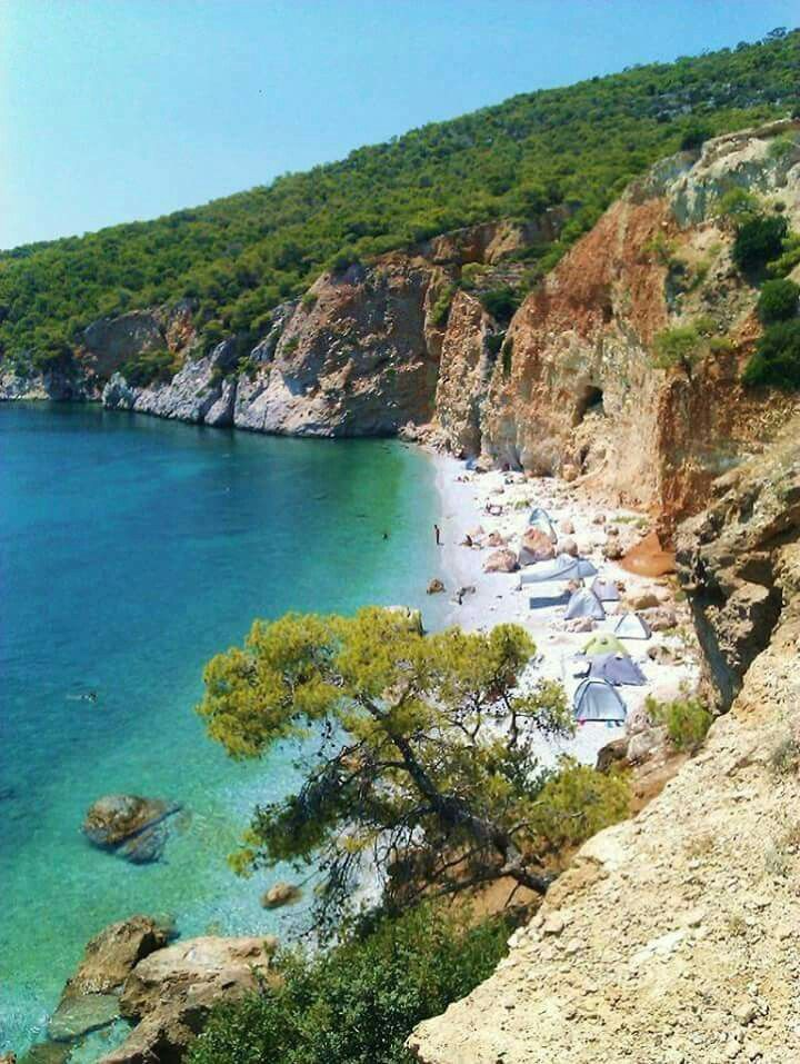 Agistri island, Saronicos bay, Greece