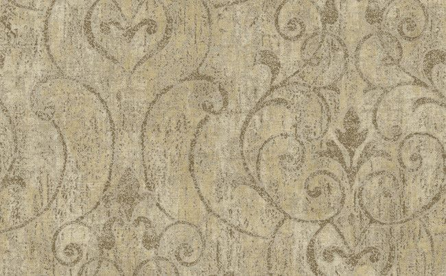 Abstract Ironwork Wallpaper in Browns and Metallics design by Seabrook…