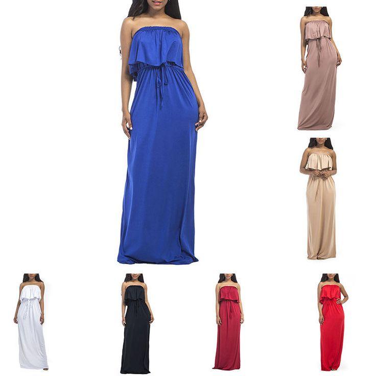Womens Off Shoulder Clubwear Party Cocktail Jumpsuit Long Maxi Dress Oversize