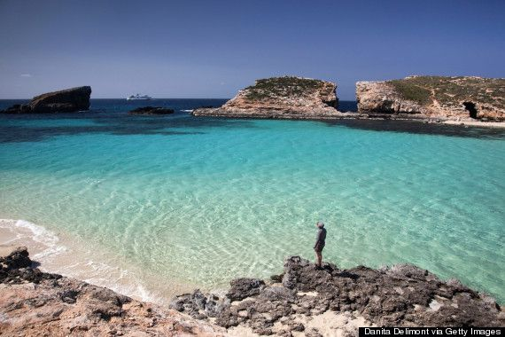 Experience the crystal clear waters at the #BlueLagoon on the tiny island of #Comino, #Malta.  Comino is the smallest of the islands...