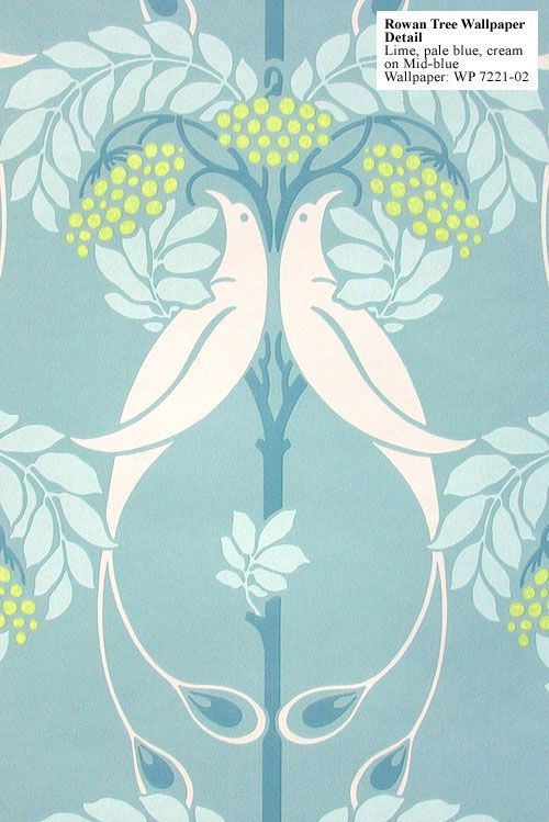 Art Nouveau Rowan Tree Wallpaper