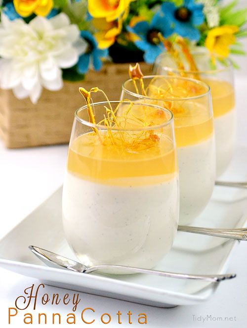 Cool refreshing Honey Panna Cotta via @TidyMom