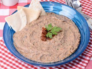 Hoja de impresión de Hummus de frijoles negros